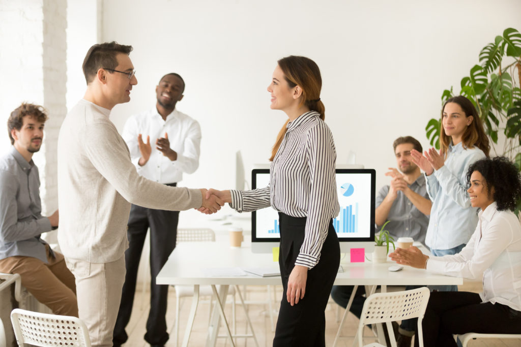 salespeople positive praise