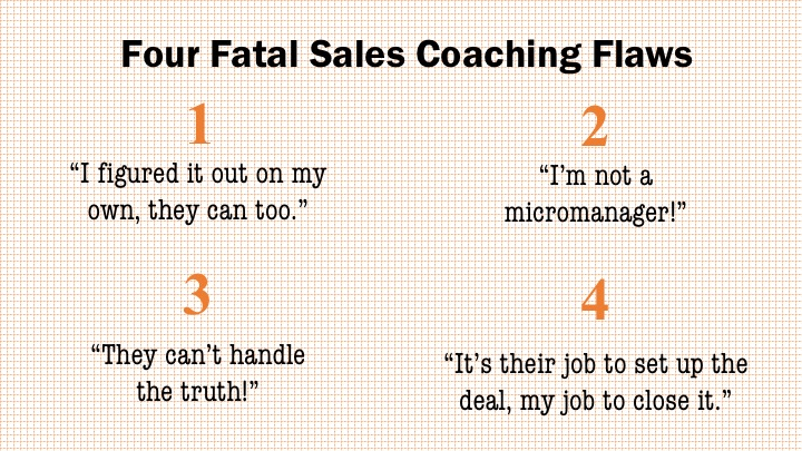 sales coaching flaws