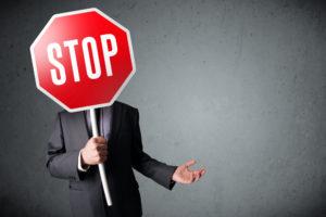 Businessman Stop Sign